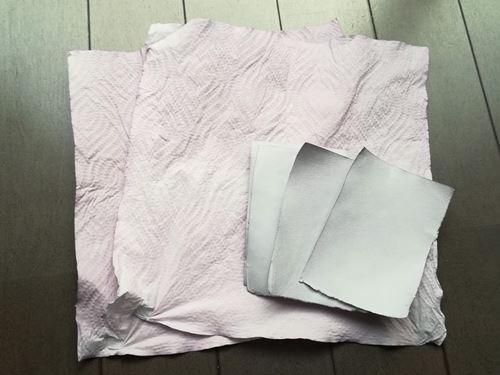 乾燥が終わった紙の写真