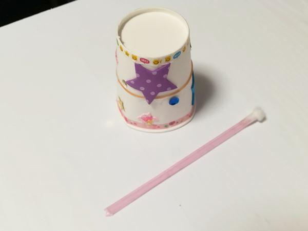 小学6年生の長女の紙コップ工作品の写真1