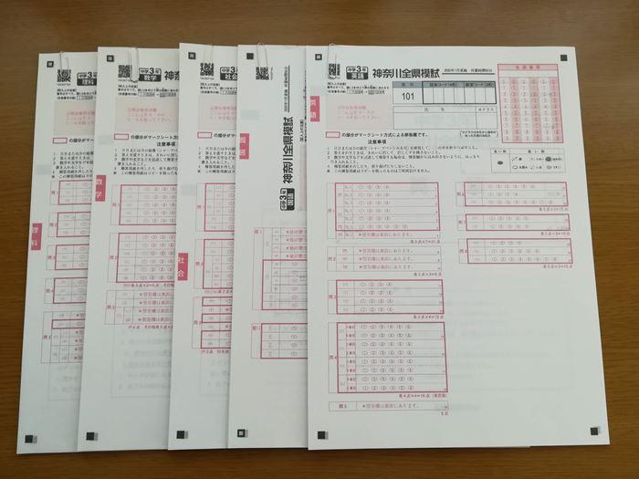 印刷した試験問題の写真
